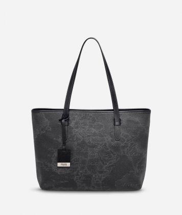 Geo Black Medium shopping bag