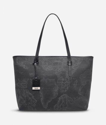 Geo Black Large Geo Dark shopping bag