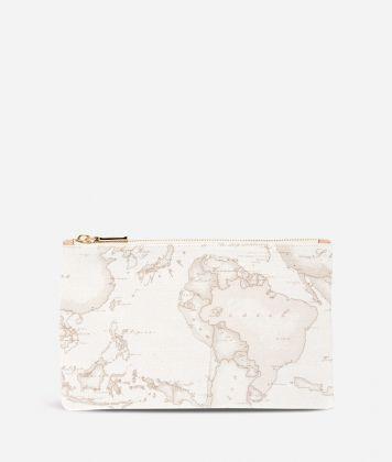Geo White Envelope Clutch Bag