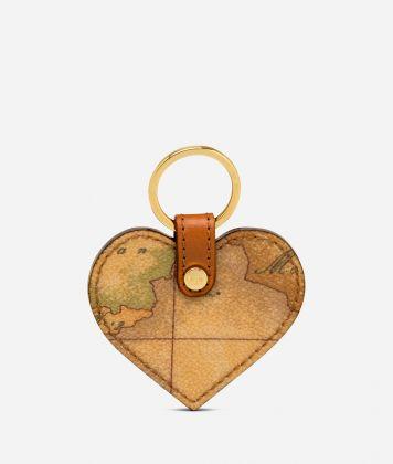 Geo Classic Heart shaped key ring