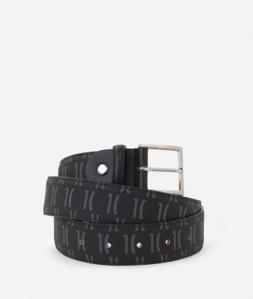 Monogram Unisex Belt Black