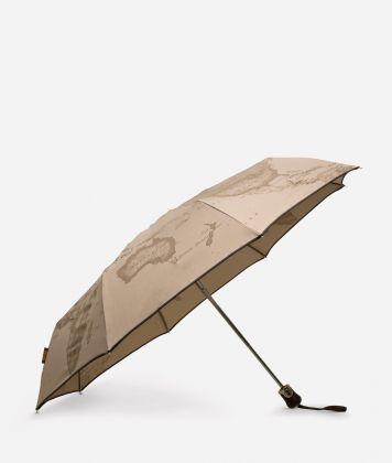 Open/close umbrella in printed Geo Tortora fabric