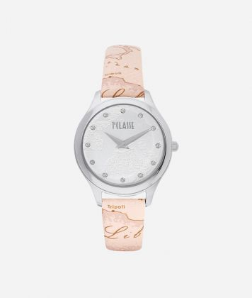 Ischia Watch with Geo Nude print leather strap