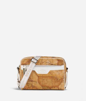 Donnavventura Crossbody bag with Geo Classic print White