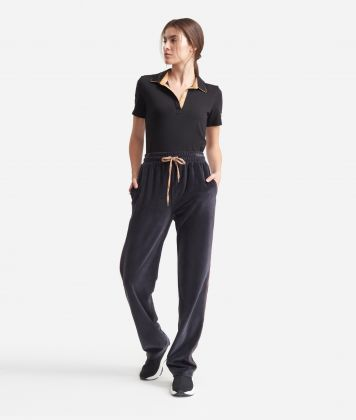 Pants in chenille Grey