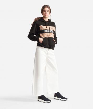 Sweatshirt with hood Black