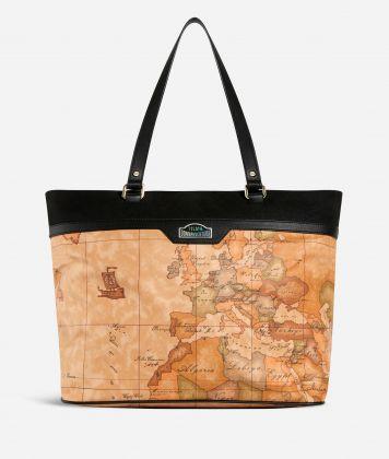 Shopping Bag in Geo Classic print fabric
