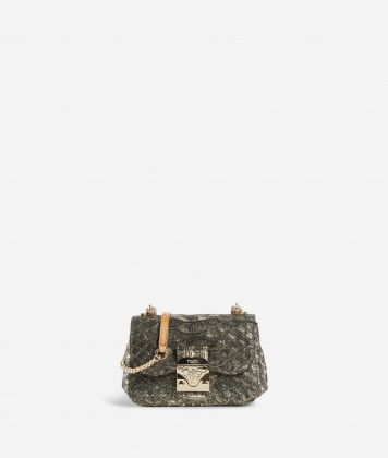 Joy Bag Tracolla in pelle stampa anaconda Bronzo