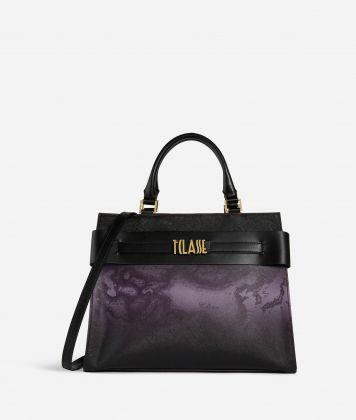 Stylish Bag Borsa a mano in tessuto Geo Ametista Viola