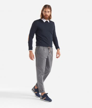 Baggy pants with drawstring Grey