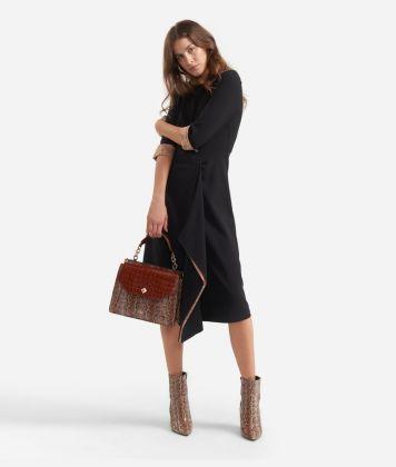 Sheat dress in stretch fabric Black