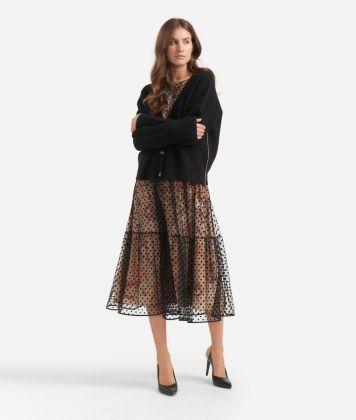 Cardigan in wool blend Black