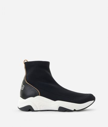 Running boots in lycra Black
