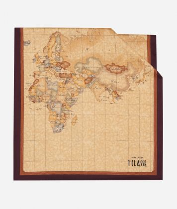 Scarf with Geo Classic print 45x180 Purple