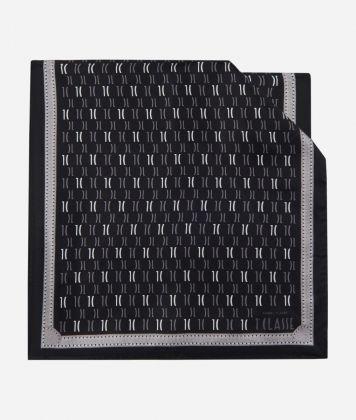Scarf with 1C Monogram print 45 x 180 Black