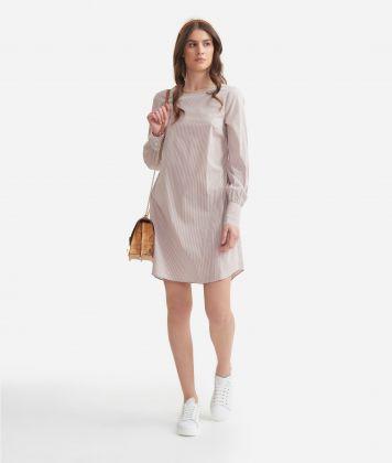 A-line dress in stretch cotton White