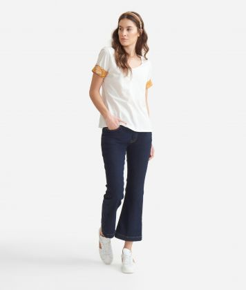 T-shirt with Geo Classic details in jersey cotton White