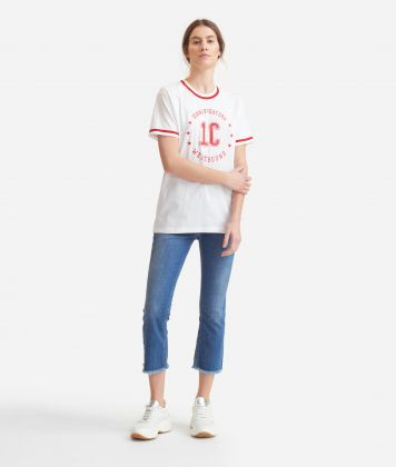 T-shirt with logo  in jersey cotton White