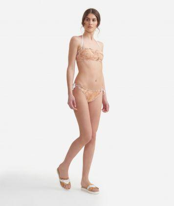 Bandeau bikini with Geo Classic print