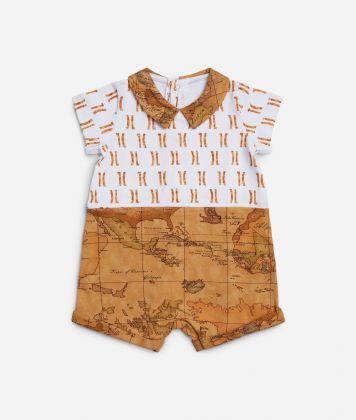 Baby romper with Geo Classic details