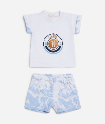 Baby clothing set in Geo Sky