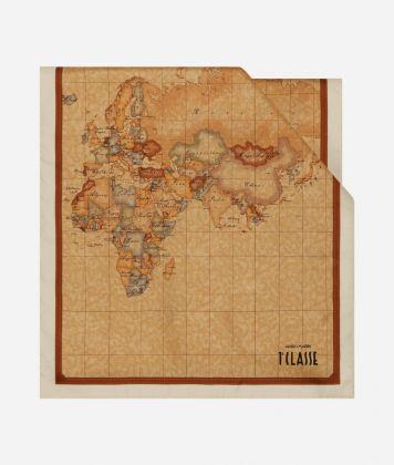 Scarf with Geo Classic print 45 x 180 White