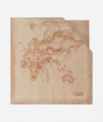 Scarf with Geo Color print 45 x 180 Pink