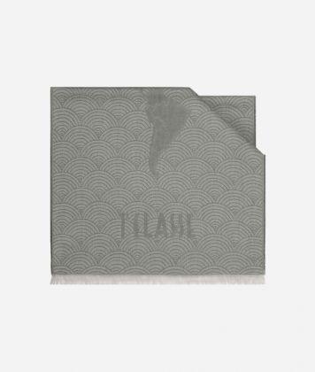 Scarf with Geo Pieno Décor print 50 x 180 Grey