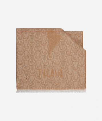 Scarf with Geo Pieno Décor print 51 x 180 Orange