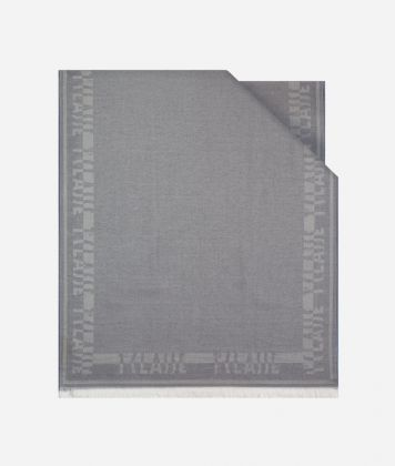 Bicolor Stole 80 x 180 Grey and Light Blue