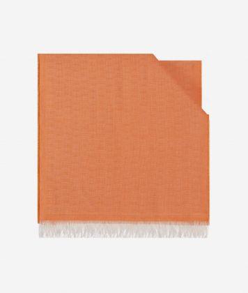 Scarf with 1C print 40 x 190 Orange