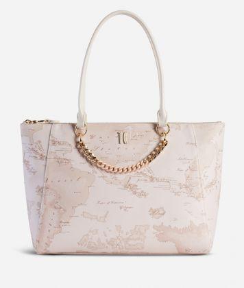Geo Nude Shopping Bag Pink