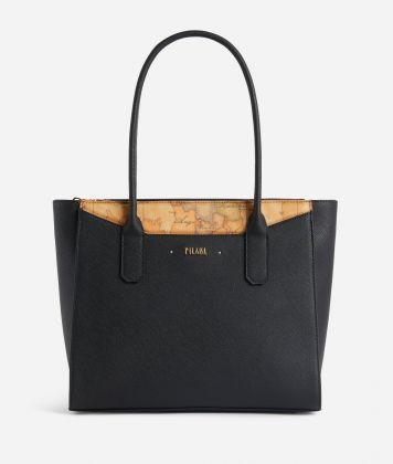 Star City Medium shopping bag Black