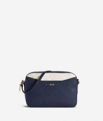 Star City Medium crossbody bag with Geo White insert Blue