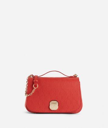 Lady Bag Tracolla in pelle granata impressione 1C Rossa
