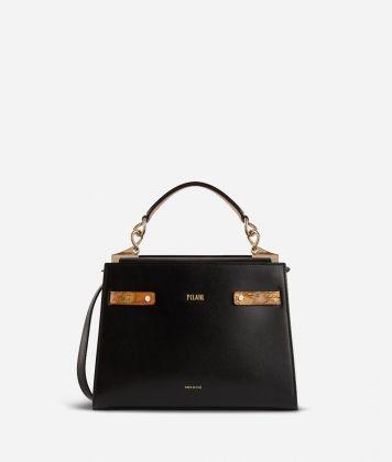 Diva Bag Handbag in smooth cowhide leather Black