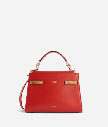 Diva Bag Handbag in smooth cowhide leather Red