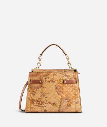 Diva Bag Handbag in Geo Classic print nappa