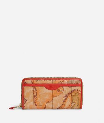 Soft Sound Ziparound wallet in Geo Soft Classic fabric Red