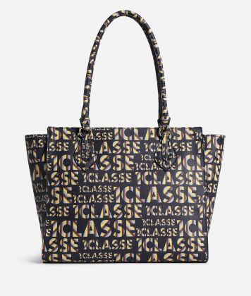 Logo Power Shopping Bag all-over 1a Classe logo print Midnight Blue