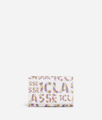 Logo Power medium bifolder Wallet with all-over 1a Classe logo print White