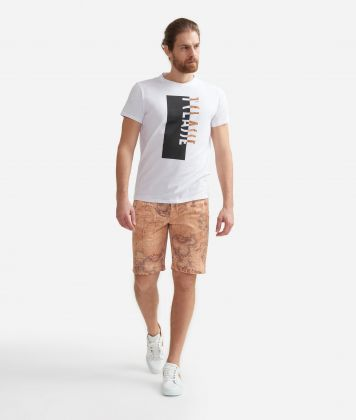 Bermuda shorts  with Geo Classic print