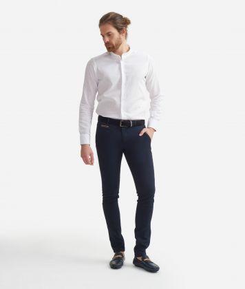 Super slim fit pants in cotton Blue