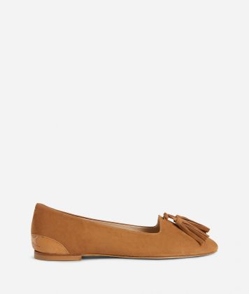 Online Exclusive Mocassins in suede leather Brown