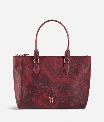 Geo Rouge shopping bag in Geo Merlot fabric