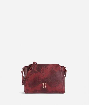Geo Rouge shoulder bag in Geo Merlot fabric