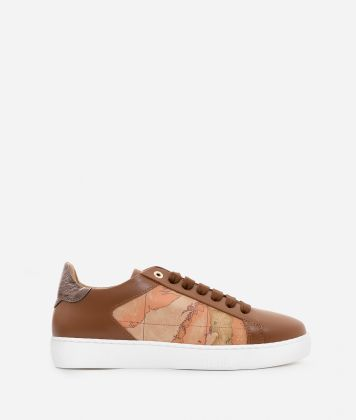 Sneakers in smooth cowhide leather Acorn