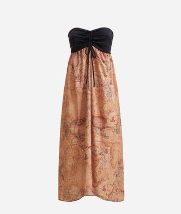 Beach Dress with Geo Classic print