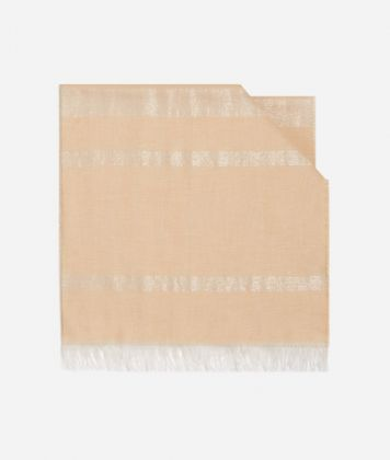 Scarf with Geo Filetto Lurex print 40 X 190 Pink