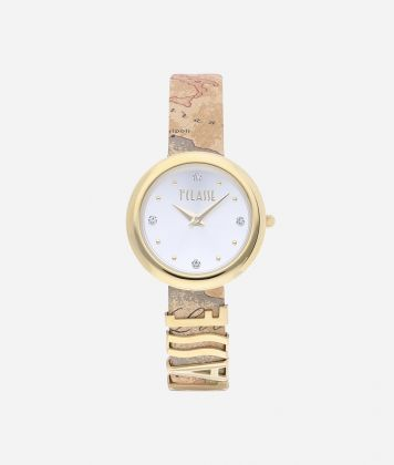 Antigua Watch with Geo Classic print leather strap